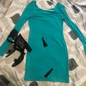 Forever 21 Blue dress with long sleeves